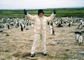 Gail Small and Antarctica Penguins