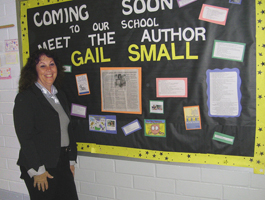 Gail Small visits a school in Macon, Georgia.