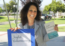 Gail Small with Joyful Volunteering Book